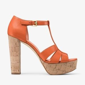 Mercer Cork Platform Leather Sandal